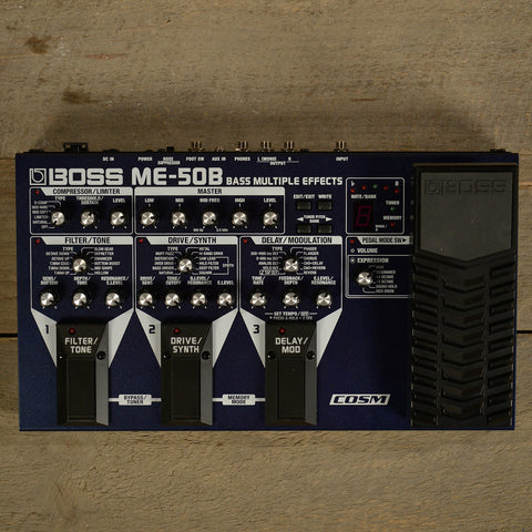 Boss ME-50B Bass Multiple Effects w/ COSM USED