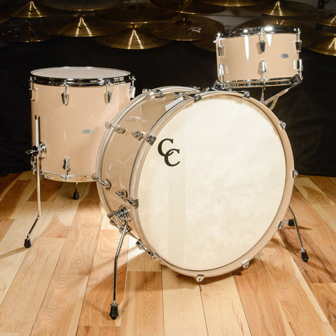 C&C Maple/Gum 3pc Drum Kit 13/16/24x12 Toffee Brown High Gloss Lacquer