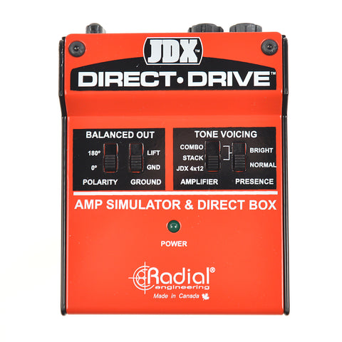 Radial JDX Direct Drive Amp Simulator