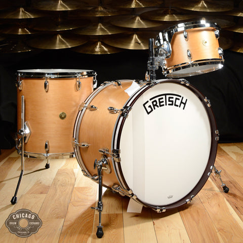 Gretsch Broadkaster Heritage 3pc Drum Kit 12/16/22 Satin Classic Maple