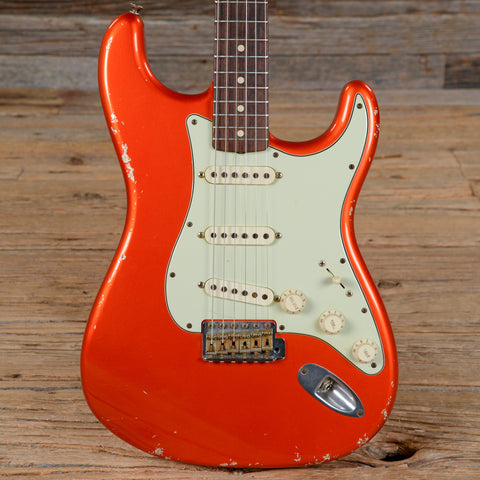 Fender CS 1964 Stratocaster Relic Candy Tangerine USED (s776)