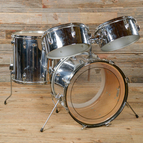 "Slingerland 13/14/16/20 4pc ""San Juan Outfit"" Drum Kit w/Timbales Chrome 1970s USED"