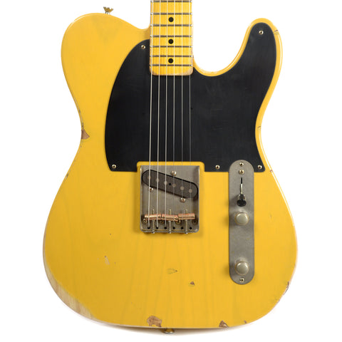 Nash E-52 Butterscotch Blonde MN Light Relic C-Neck w/1-Ply Black Pickguard & Lollar Pickups (Serial #3362)