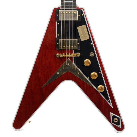Gibson Custom Shop Flying V Custom Aged Faded Cherry GH Floor Model