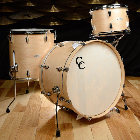 C&C 12th & Vine 3pc Drum Kit 13/16/22 Maple/Poplar Natural Satin