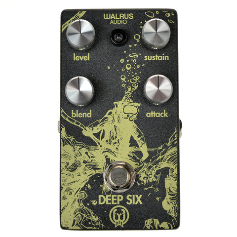 Walrus Audio Deep Six Compressor LTD Frosted Charcoal / Yellow Ink / Silver Knobs