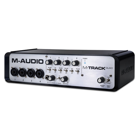 M-Audio M-Track Quad 4 X 4 Audio And Midi Interface With Pro Tools Express