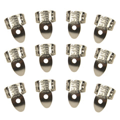 National Picks Metal Finger Pick Vintage Stainless Steel 12 Pack