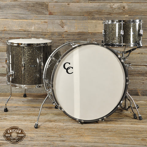 C&C Player Date 1 3pc Big Band Drum Kit 13/16/24 Grey Glitter