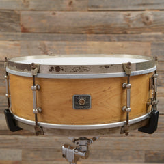 Ludwig 5.5x15 Universal Solid shell Maple Snare Drum 1930s USED