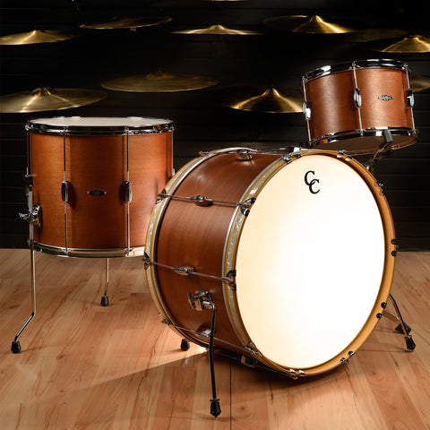 C&C Player Date 1 3pc Bonzo Drum Kit 14/18/24 Brown Mahogany Satin
