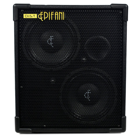 Epifani DIST 210 Black 500W 2x10 Bass Speaker Cabinet, 4 & 8 Ohms