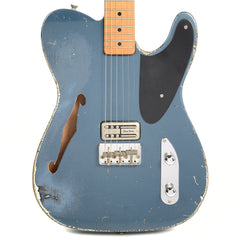 RebelRelic Holy Thinline Midnight Blue Metallic MN w/TV Jones Duo Tron Pickup (Serial-62092)