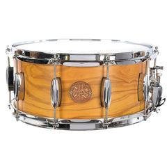 North Custom Drums 6.5x14 Bubinga/Birch Snare Drum Italian Olivewood, Honey Amber