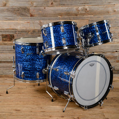 Rogers 12/13/16/20 Dayton Era 4pc Drum Kit Blue Onyx Mid 1960s USED