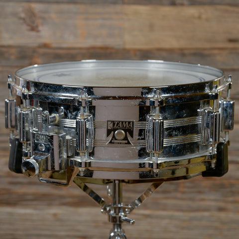 Tama 5x14 King Beat Chrome Over Brass Snare Drum Early 80s USED