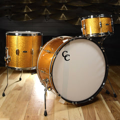 C&C Player Date 2 3pc Big Band Drum Kit 13/16/24 Gold Sparkle
