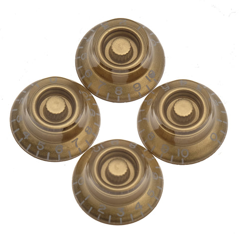 Gibson Top Hat Knobs 4-Pack - Gold