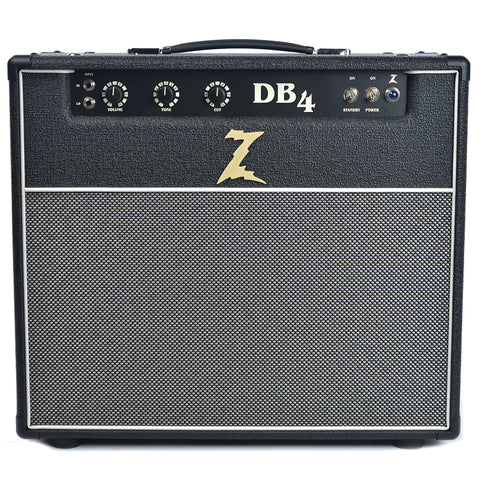 Dr. Z DB4 1x12 18/38W Combo Black w/Salt & Pepper Grill & Celestion Gold