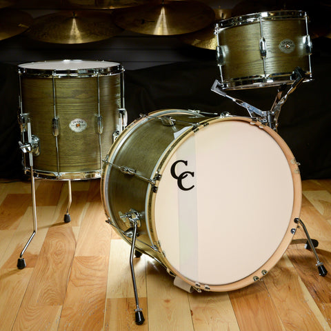 C&C Signature CDE Player Date Maple/Oak 12/14/20 3pc Bop Drum Kit Olive