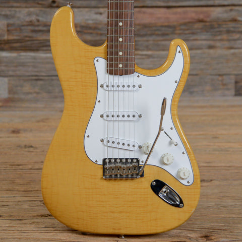 Fender Japan '62 Reissue Stratocaster Foto Flame Natural 1995 (s147)