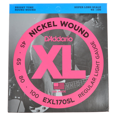 D'Addario EXL170SL Nickel Wound Super Long Scale Bass 45-100