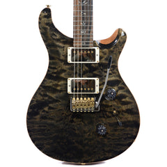 PRS CME Wood Library Custom 24 10 Top Quilt w/Pattern Regular Neck Obsidian (Serial #235367)
