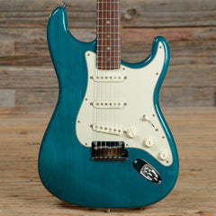 Fender American Deluxe Stratocaster RW Teal Green Transparent 2003 (s465)