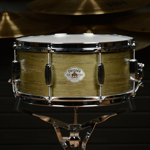 C&C 6.5x14 Signature CDE Player Date Maple/Oak Snare Drum Olive