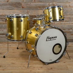 "Hayman Vibrasonic ""Big Sound"" Outfit 13/16/22/5x14 4pc Drum Kit Gold Ingot 1970s USED"