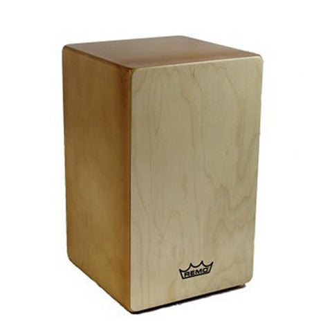 Remo Dorado Cajon Fixed Face Plate Birch Construction Amber Body Natural Face