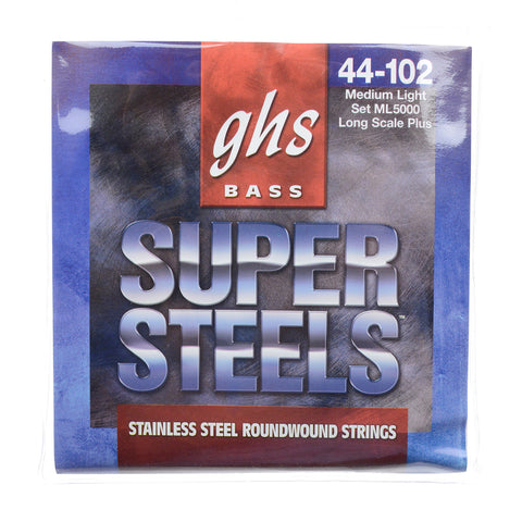 GHS Super Steels Long Scale Plus Medium Light Bass 44-102