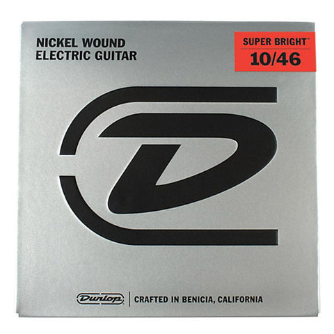Dunlop Strings Electric Nickel Plated Steel Super Bright Medium 10-46