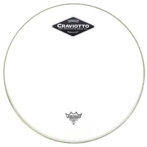 "Craviotto Remo 24"" Powerstroke 3 Fiberskyn Craviotto Logo Bass Drum Head"