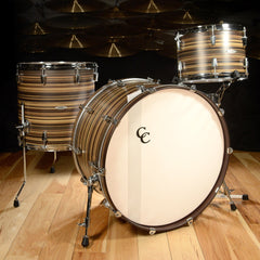 C&C Gladstone 3pc Drum Kit 13/16/24 Two Tone Butcher Block