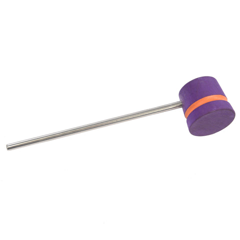 Low Boy Purple Orange Stripes Lightweight Bass Drum Beater