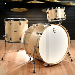 C&C Gladstone 13/16/24x16 3pc Kit Natural Maple Satin w/Aged White Marine Pearl Inlay