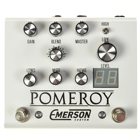 Emerson Custom Pomeroy Analog Overdrive Distortion White