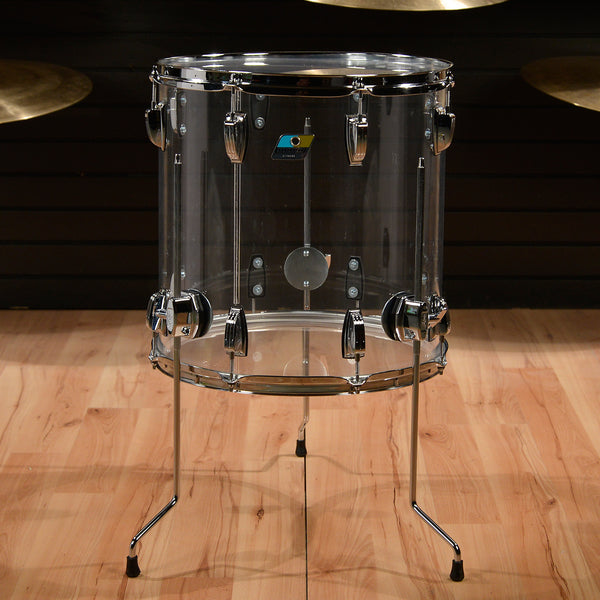 Ludwig vistalite 16x16 clear floor tom w large classic for 16x16 floor tom