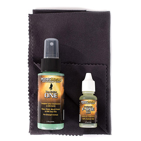 Music Nomad Premium Guitar Care Pack with 1 oz Guitar One 1/2 oz F-One and micro fiber cloth