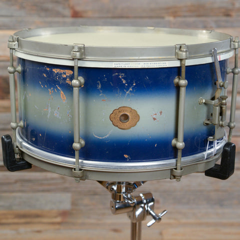 Slingerland 6.5x14 Radio King Snare Drum Blue/Silver Duco Snare 30s USED