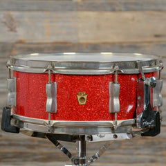 WFL 5.5x14 Buddy Rich Model Super Classic Snare Drum Red Sparkle 1957 USED