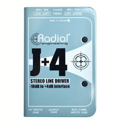 Radial J+4 Balanced -10dB to +4dB Signal Driver