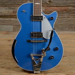 Gretsch Stephen Stern Masterbuilt 6128 Duo Jet Lake Placid Blue USED (s392)