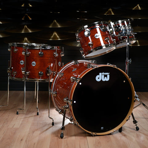 DW Exotic 10/12/14/16/22 5pc Drum Kit Natural Padauk Pomelle