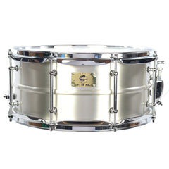 Pork Pie Hip Pig 6.5x14 Pig Iron Snare Drum Satin Finish Plated Tin