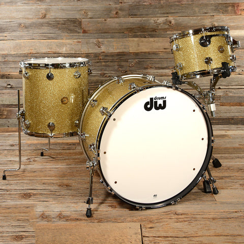 DW Jazz Series Maple/Gum 13/16/24 3pc Kit Gold Glass Glitter