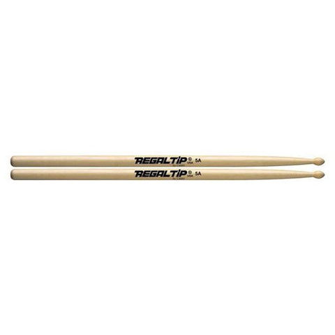 Regal Tip 5A American Hickory Wood Tip Drumsticks