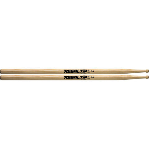 Regal Tip 9A American Hickory Wood Tip Drumsticks