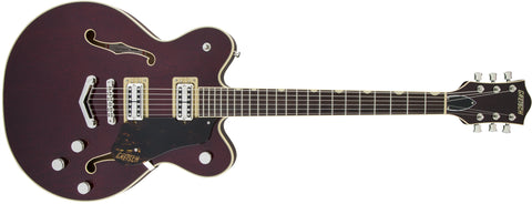 Gretsch G6609 Players Edition Broadkaster Center Block Double Cutaway Dark Cherry Stain w/V-Stoptail